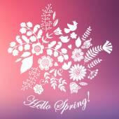 Blurred  floral arrangement — Stock Vector