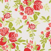 Vintage decorative ornate floral pattern — Stok Vektör