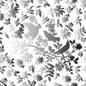 Pattern with gradient birds. — Stock vektor