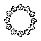 Decorative round floral frame — Stock Vector