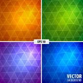Set of 4 mosaic background. — Stockvektor