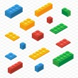 Do your self set of lego blocks in isometric view — Stock Vector #62267097
