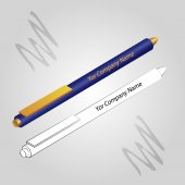 Set of 2 pens isolated on ligh background — Stock Vector