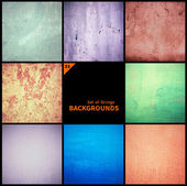 Collection of grunge textures and backgrounds — Stock Photo