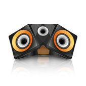 Realistic music speaker — Stock Vector