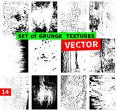 Set of grunge textures — Stock Vector