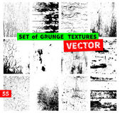 Set of grunge textures — Stock Vector