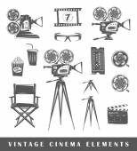 Set of silhouettes a movie — Stock Vector