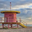 Life guard station on South Beach — Stock Photo #54292579