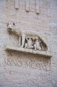 Marble inpression of the Capitoline Wolf or She Wolf statue — Stock Photo
