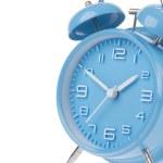 Blue alarm clock isolated on white — Stock Photo #56210213