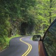 Driving through the winding roads of the Smoky Mountains — Stock Photo #64657429