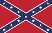 Confederate Rebel Flag — Stock Vector