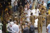 Street performers during the Carnival festival. Rio de Janeiro,  — Stock Photo