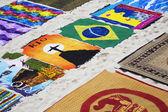 Souvenirs along the Copacabana beach in Rio de Janeiro Brazil — Stock Photo