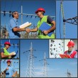Power Company Electrical Engineers - Collage — Stock Photo #56552801