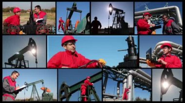 Producción de combustibles fósiles — Vídeo de Stock