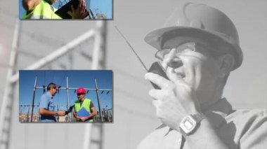Electricity Distribution equipment with Workers — Vidéo
