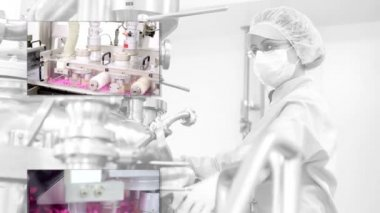 Drug Manufacturing and Pharmaceutical industry — Stock Video
