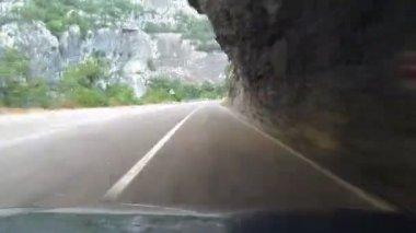 Rijden door wegtunnels — Stockvideo