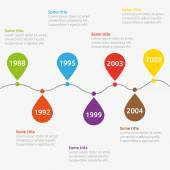 Infographic timeline template — Vettoriale Stock