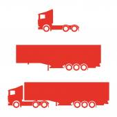 Lorry silhouette set — Stock Vector