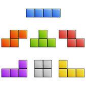 Tetris elements — Stock Vector