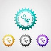 Color sale badges — Vector de stock
