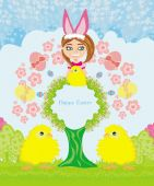Funny Easter card — Stock Vector