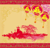 Mid-Autumn Festival for Chinese New Year  — Stock Vector