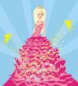 красивая принцесса и фея — Cтоковый вектор
