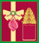 Resumen tarjeta con árbol de navidad — Vector de stock