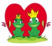 Frogs in love — Stock Vector