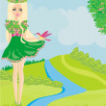 Spring fairy — Stock Vector #60756803