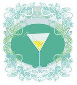 Carta di invito cocktail party — Vettoriale Stock