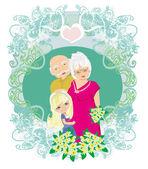 Happy grandparents day — Stock Vector