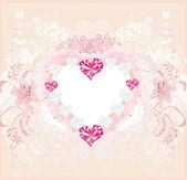 Valentine vintage heart — Stock Vector
