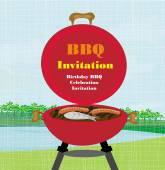 Barbecue Party Invitation  — Stock Vector