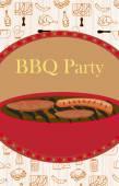 Vintage Barbecue Party Invitation  — Stock Vector