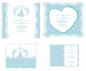 Carta di invito di nozze con elementi floreali. — Vetor de Stock