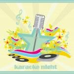 Karaoke party design — Stockvektor  #68820571