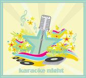 Karaoke party design — Stock Vector