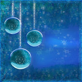 Elegant christmas background with baubles — Stock Photo