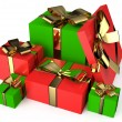 Gift red and green boxes 4 — Stock Photo #62916745