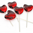 Hearts lollipops — Stock Photo #62917393
