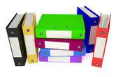Folders colored — Stock Photo