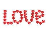 Liebe von Herzen — Stockfoto