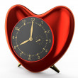 Red clock in the shape of heart — Stock Photo #64861997