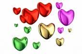 Colored hearts — Stock Photo