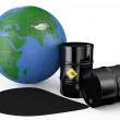 Oil pollutes the earth concept 2 — Stock Photo #66910327